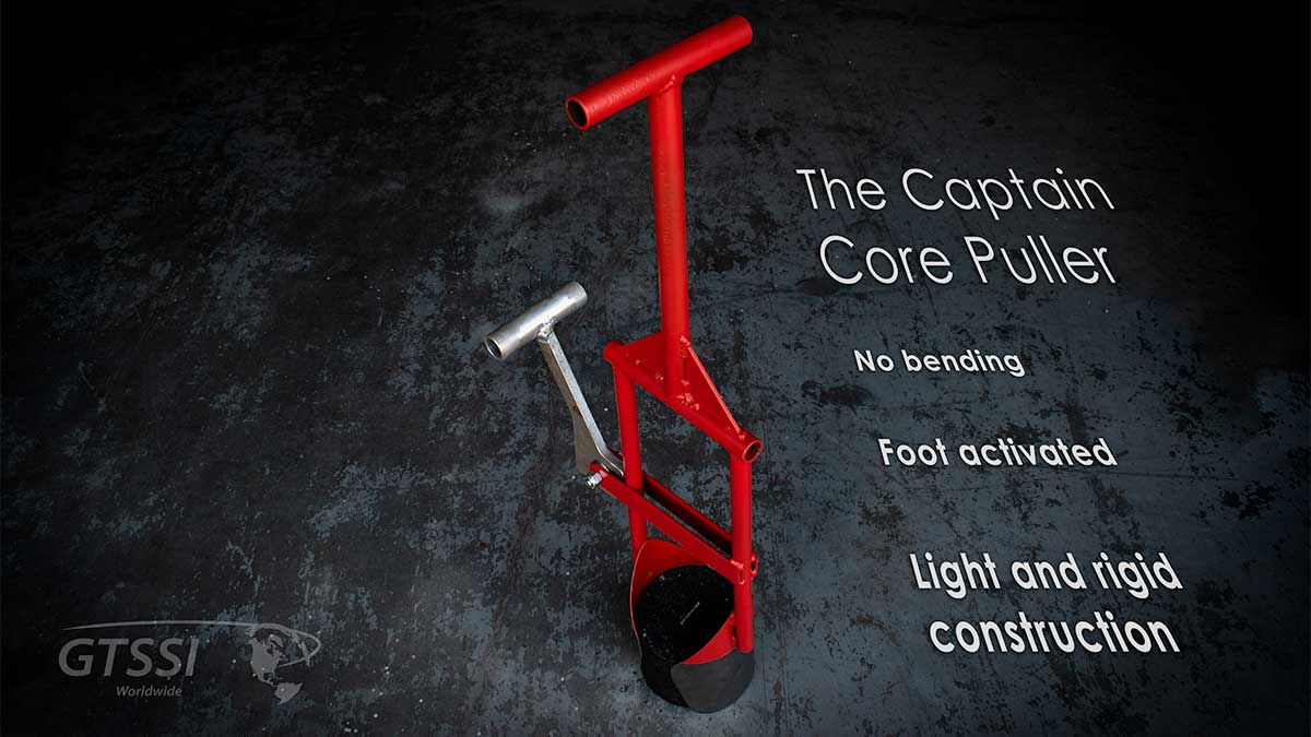 the Captain Core puller is one of our newest lab products. It is foot activated and and lightweight.
