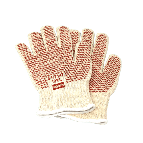 North Grip N® Hot Mill gloves showing the Nitril/Latex Coating