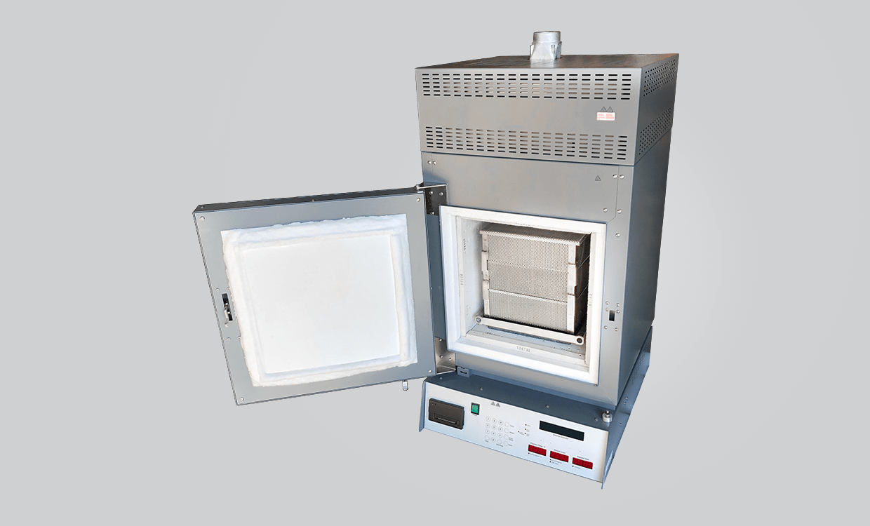 NCAT Ignition oven with a Gordon Technical Triple stack basket set in the chamber